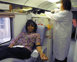Estelle McClinton Give Blood