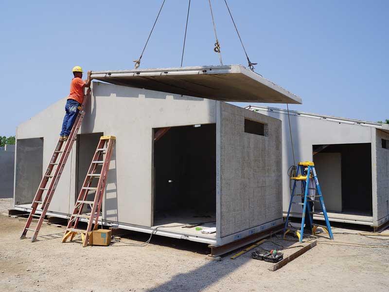 Easi Set Building Modular construction at Smith Midland