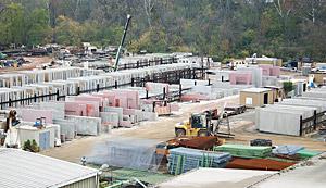 precast concrete production facility