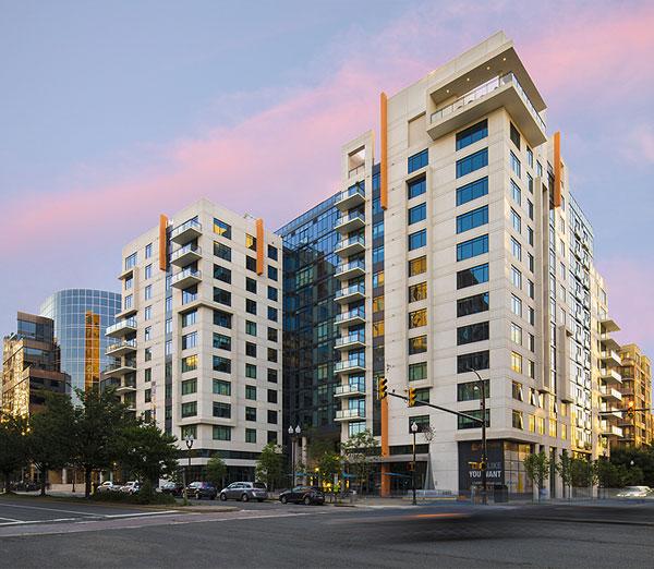 Smith Midland Latitude apartments sunset