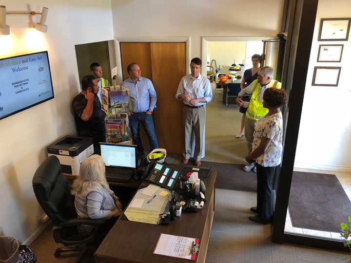 US House Representative Rob Whittman visits Smith Midland IMG 2946