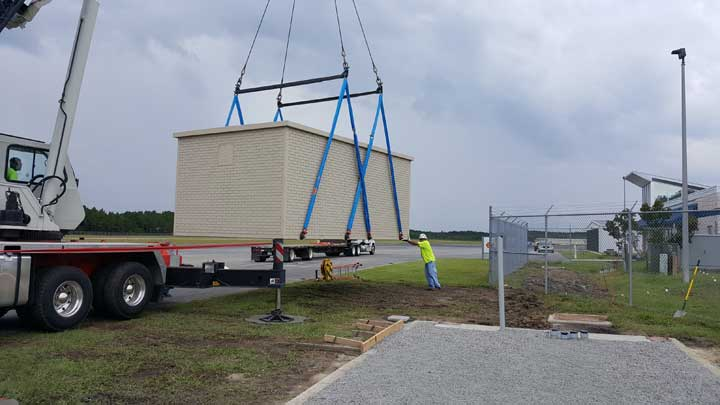 Horry County airport runway equipment building Smith Columbia