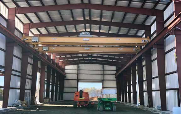 smith carolina bridge cranes installed