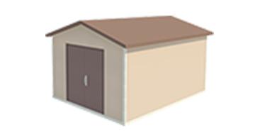 Easi-Span Building Diagram - 12x16 Gabled