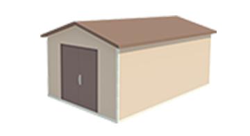 Easi-Span Building Diagram - 12x20 Gabled