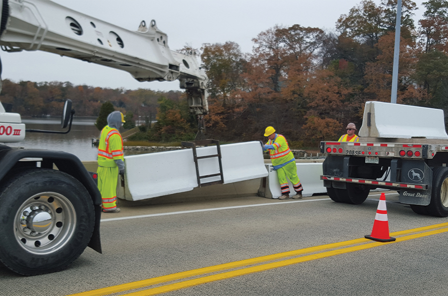 Concrete Safety Systems installing barriers in Annapolis