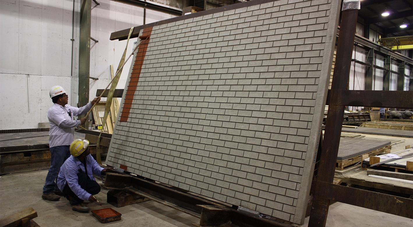 Easi-Brick wall being painted