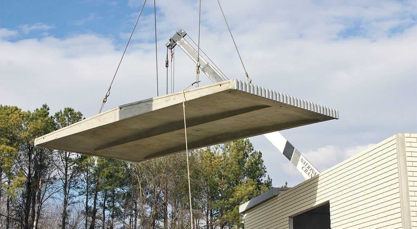 Easi-Span roof being installed