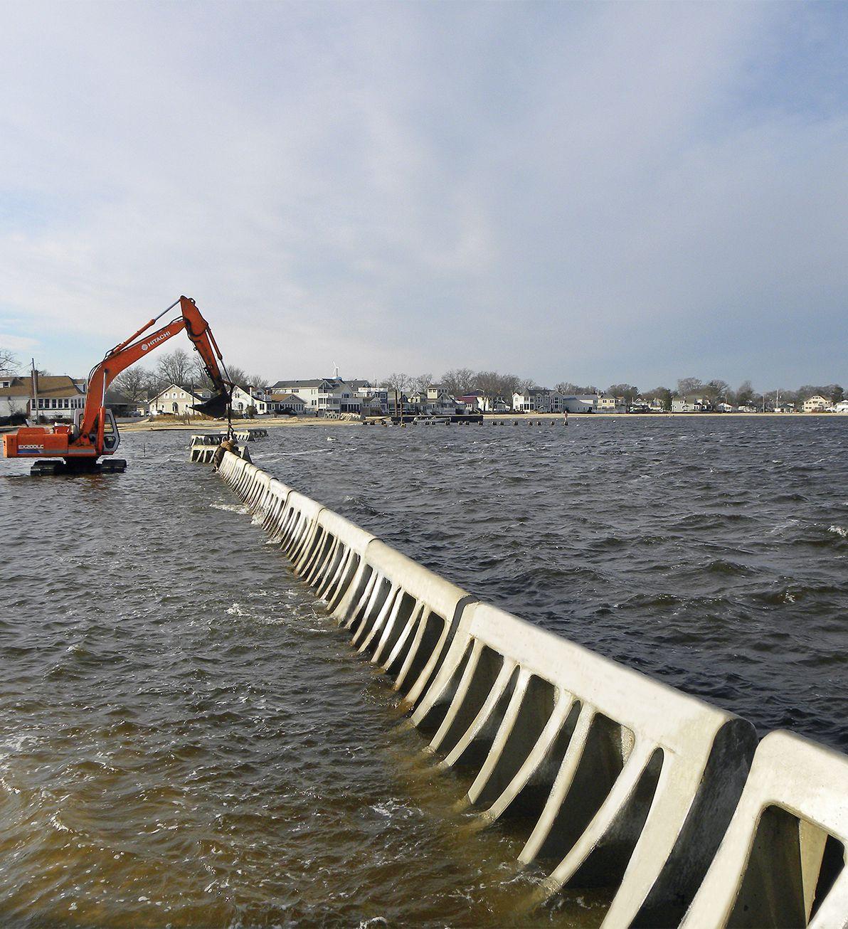 Beach Prisms being installed in Ocean Gate, NJ