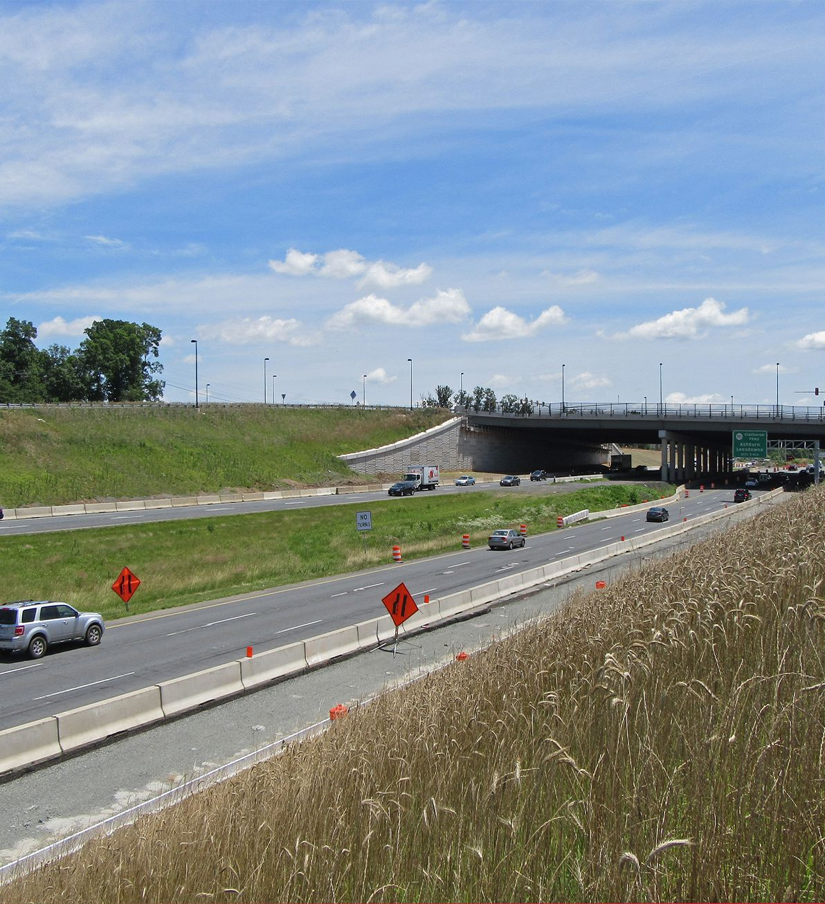 J-J Hooks barriers in use at Route 7 and Belmont Ridge intersection
