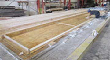 SlenderWall frames being created