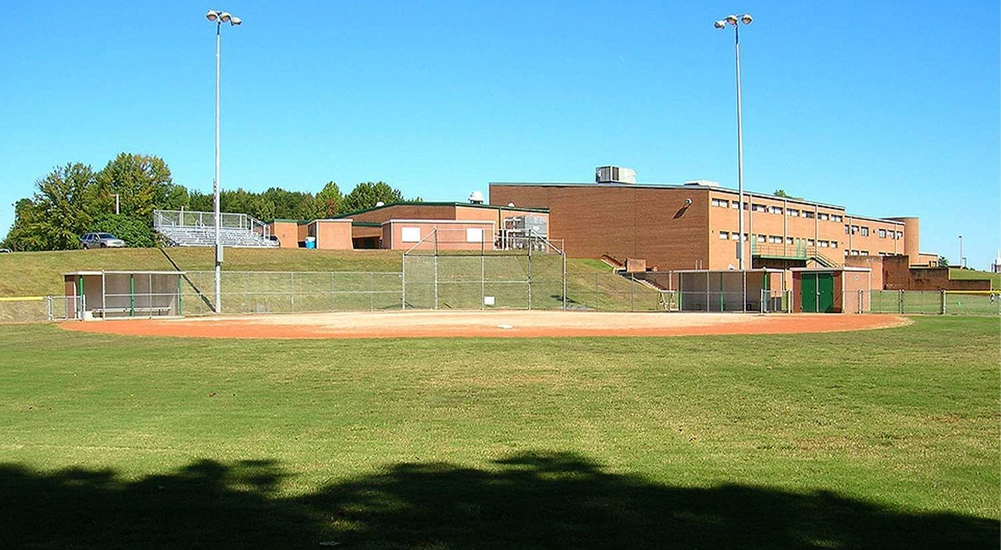 Easi-Set Building used as dugouts at a high school