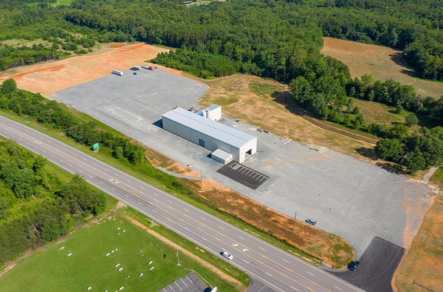 Smith-Carolina's new plant, overhead shot