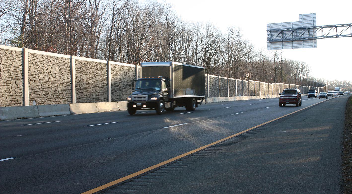 SoundWalls installed on I-95