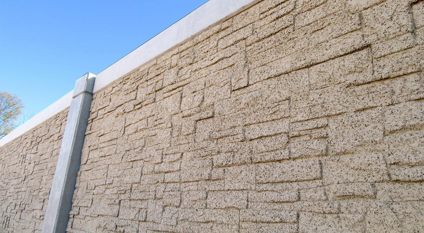 Closeup view of the SoundWall on I-66