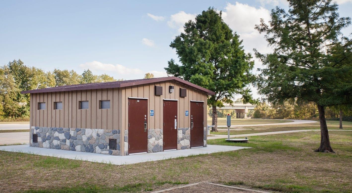Easi-Set Buildings used as Restrooms in a park