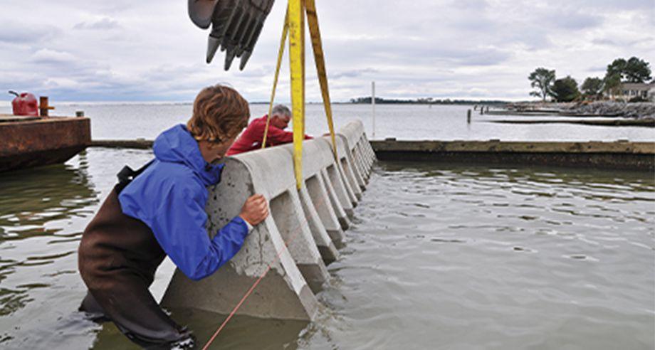 Beach Prisms being installed