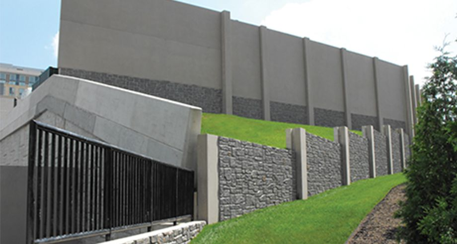 A combination of SoundWalls and Retaining Walls