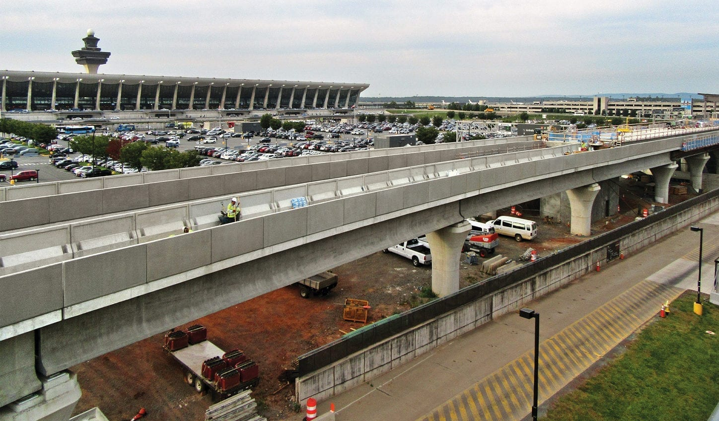 Dulles Airport Metro Rail project