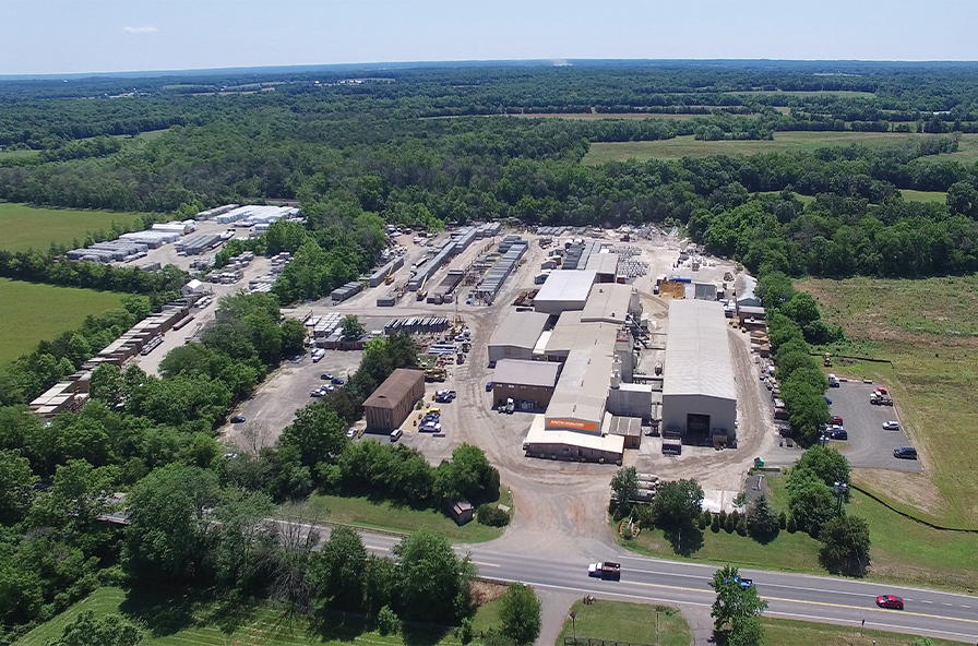 Aerial shot of the Smith Midland plant