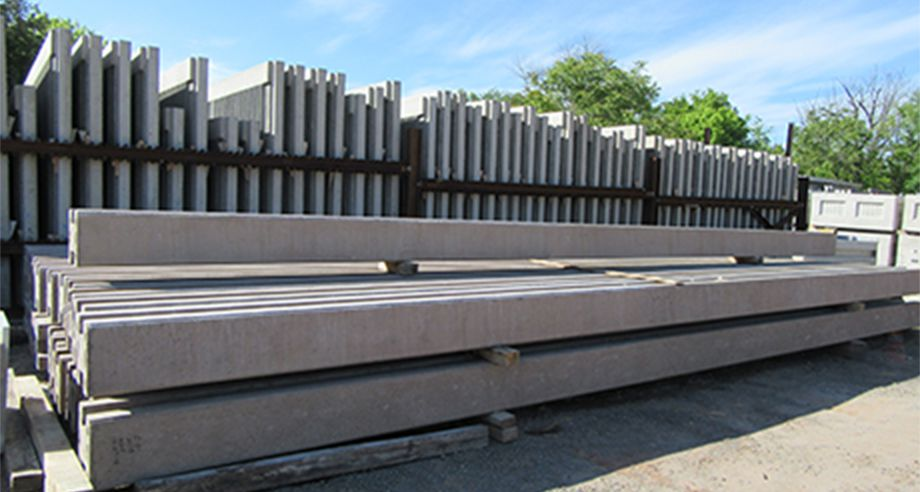 Precast posts ready to be transported