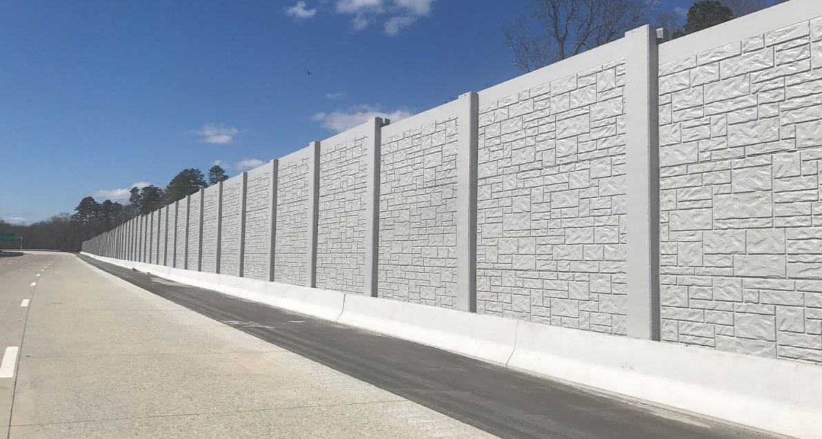 Sound Walls installed on North Carolina highways