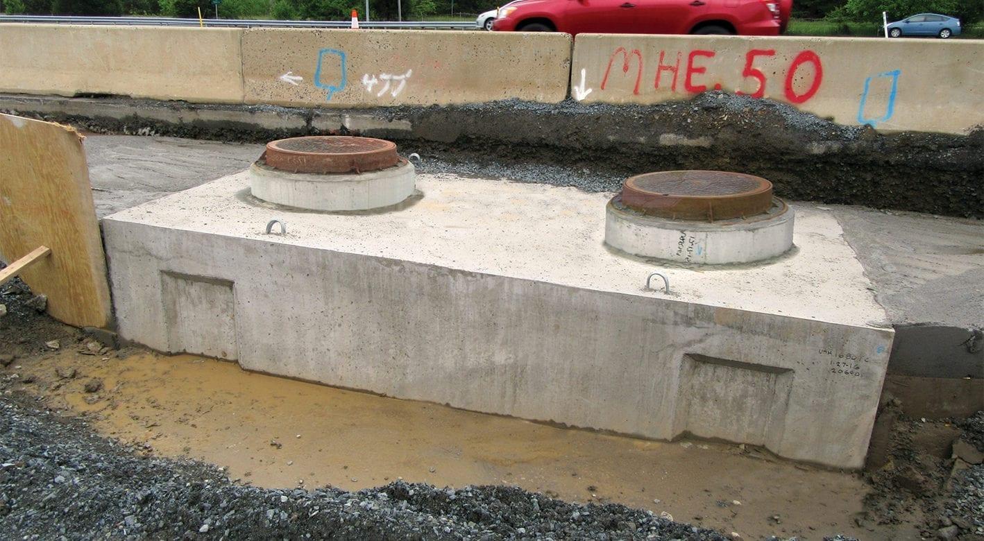 Manhole at Dulles Airport
