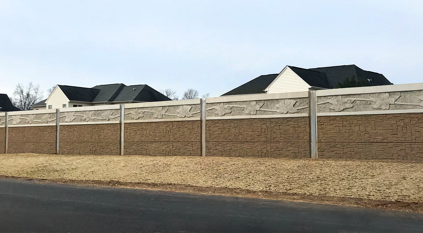 SoundWall separating a highway from residential