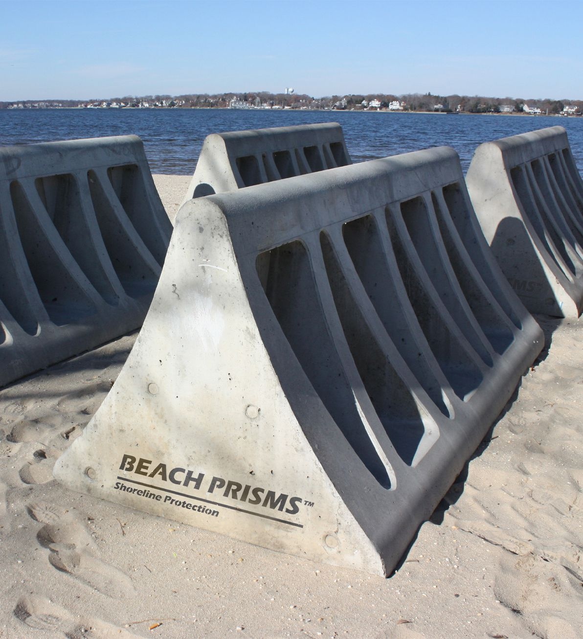 Beach Prisms ready to be being installed in Ocean Gate, NJ