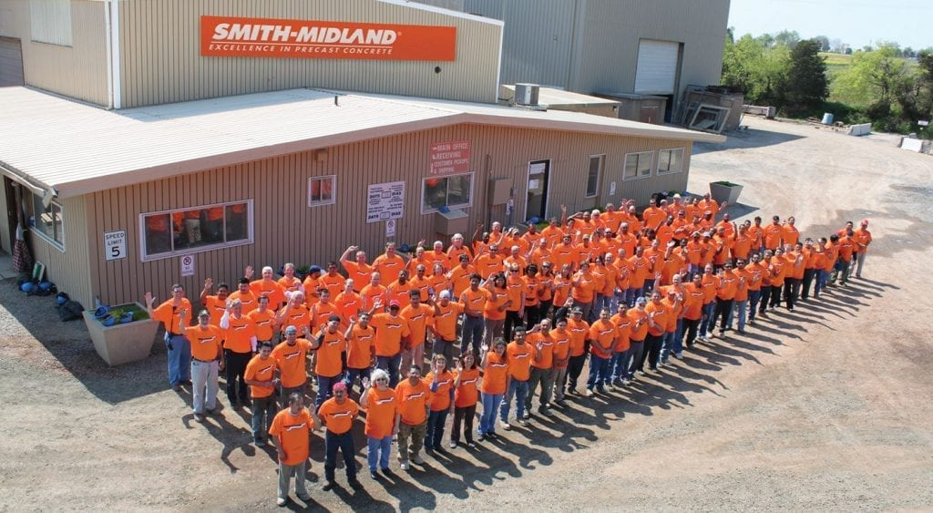 Group photo of associates at Smith Midland