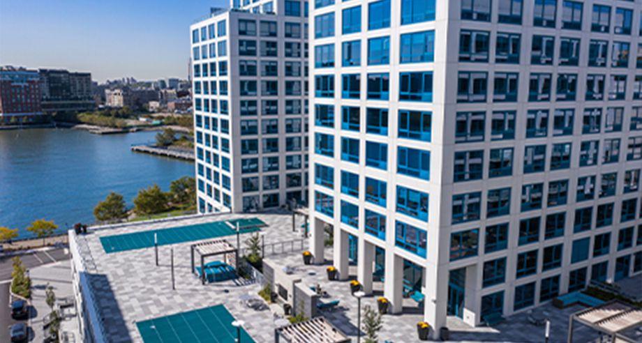 Architectrual Precast on skyscraper patio