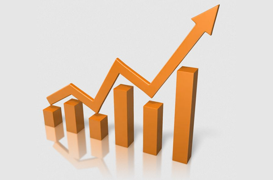 Stock growth chart
