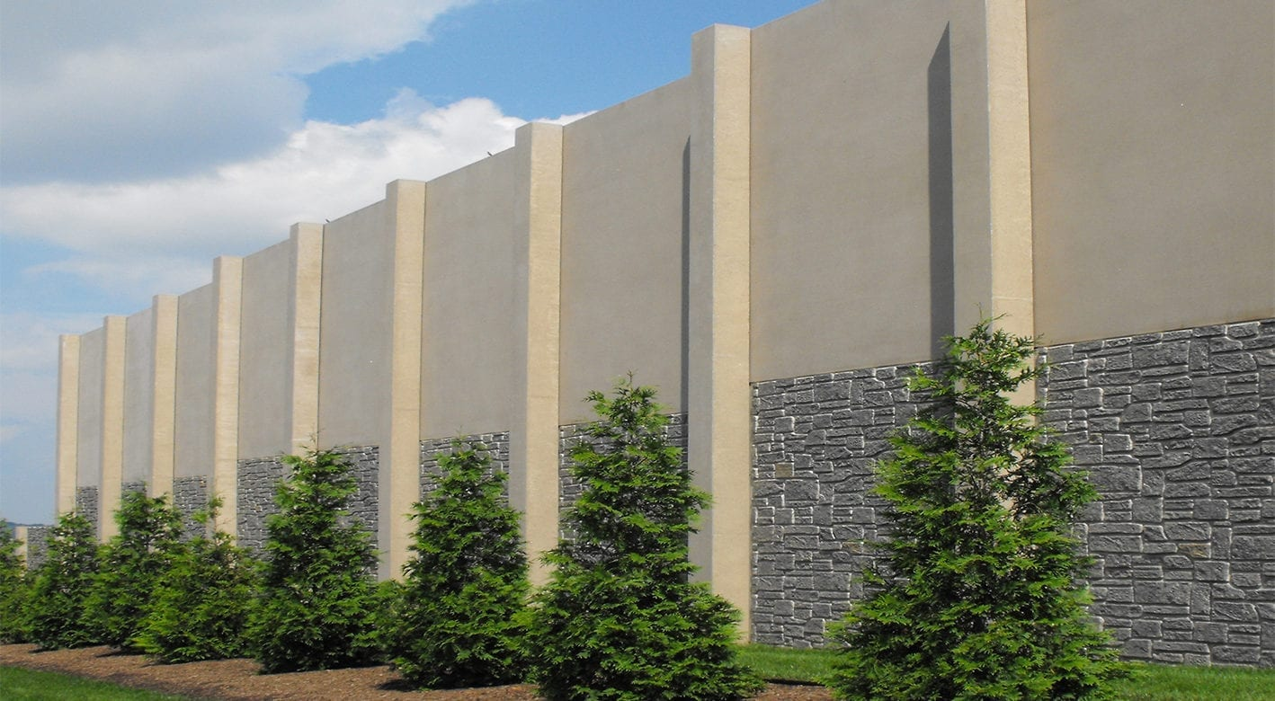 SoundWall on the side of a highway
