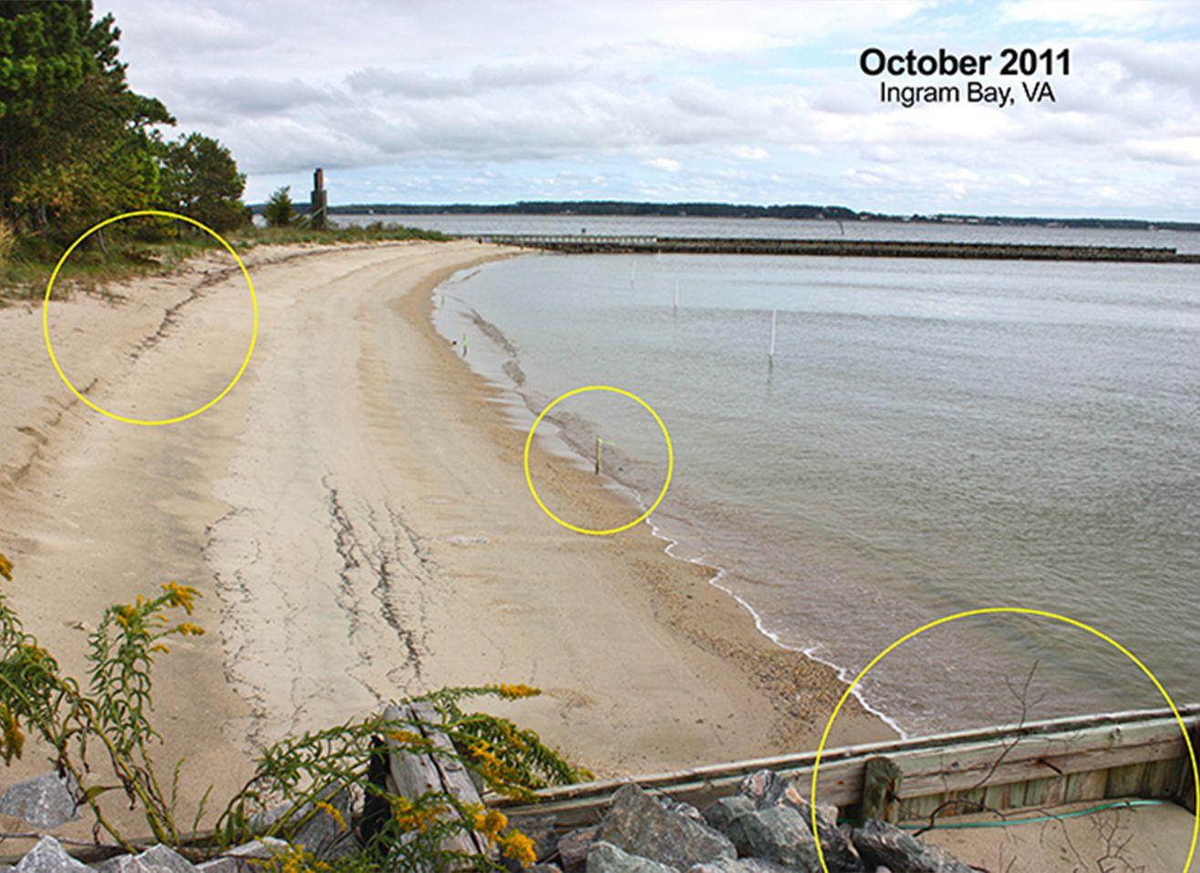 Before Beach Prisms at Ingram Bay