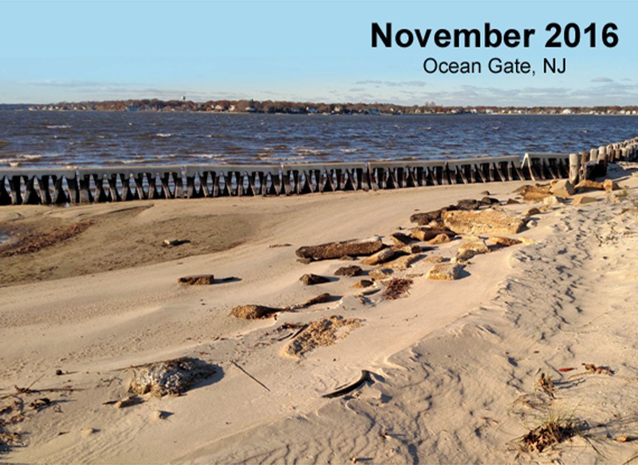 After Beach Prisms at Ocean Gate, New Jersey
