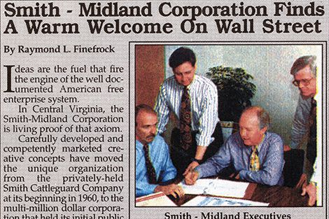 1995 - Smith-Midland goes public