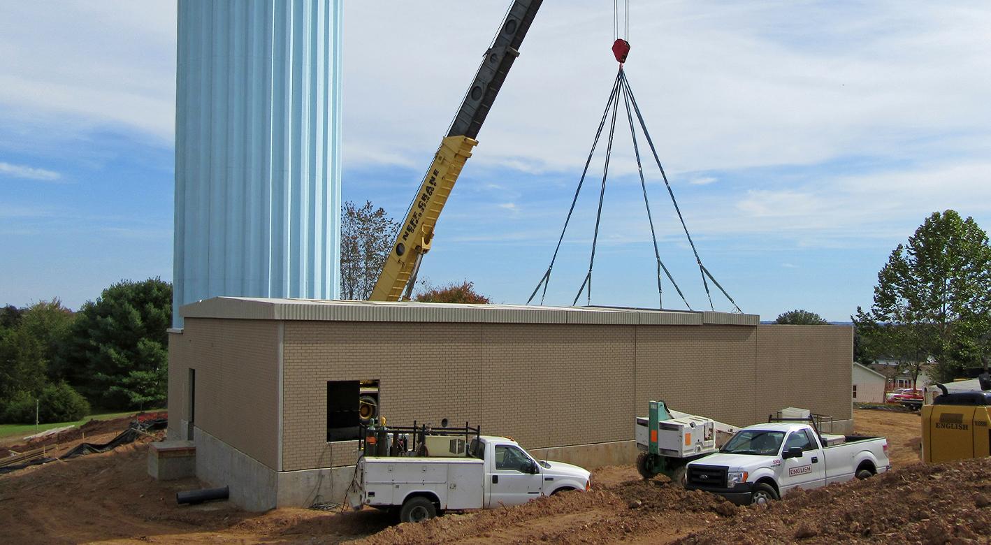 Easi-Set building being built in Bealeton, VA