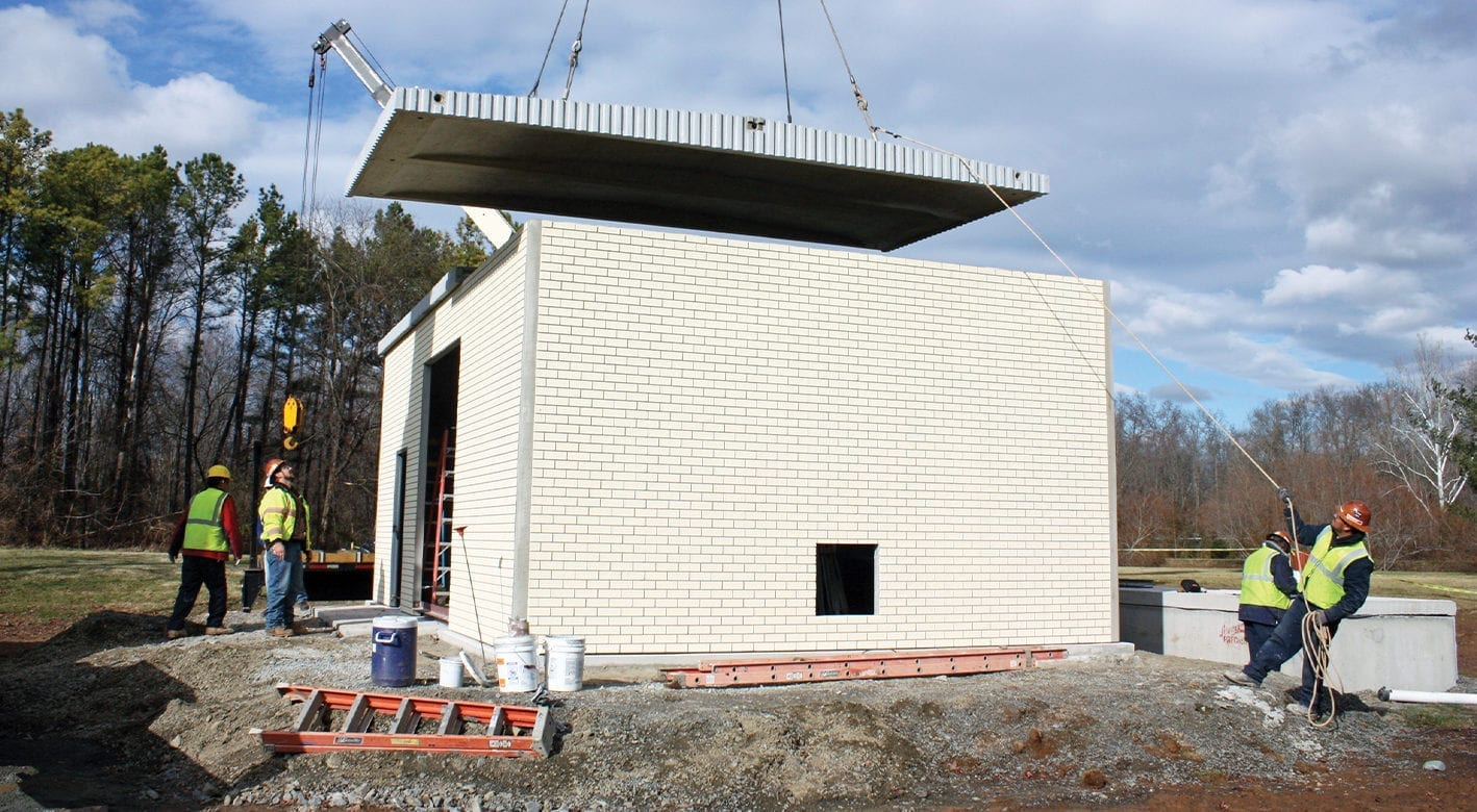 Easi-Set Precast Concrete Building being installed