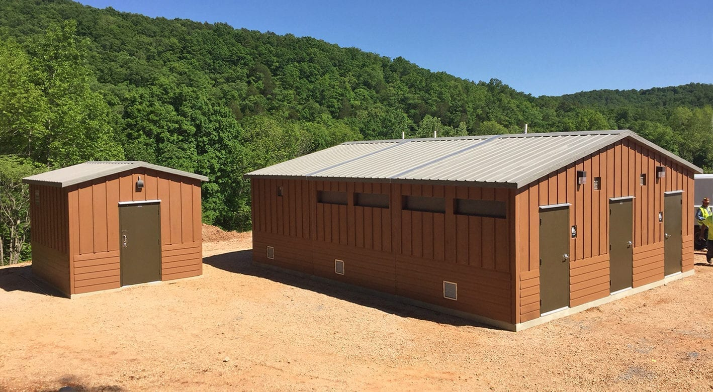 Easi-Set building in Echo Bluff State Park