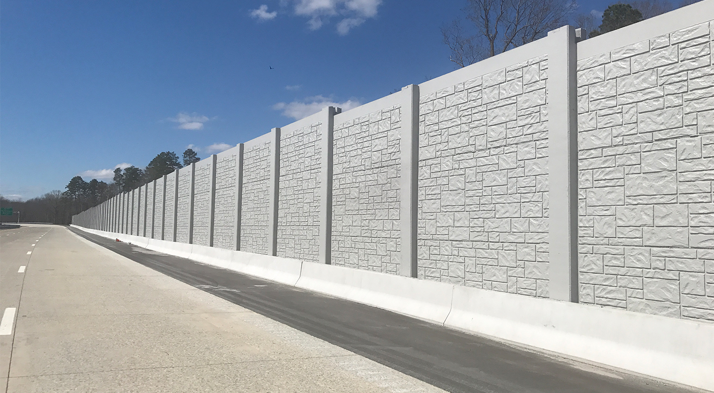 Example of a SoundWall next to a highway