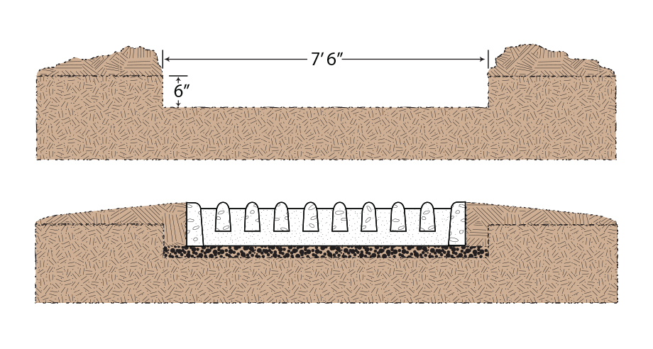 Cattleguard Installation Diagram